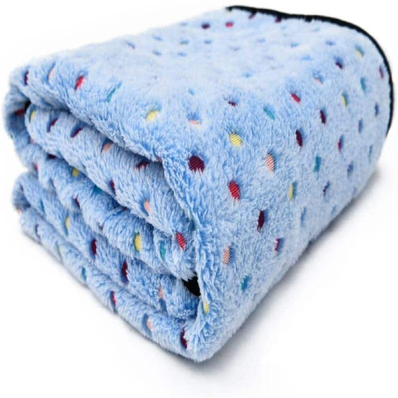 Pawz Road washable dog blanket fleece fabric soft and cute 4 colors 4 sizes