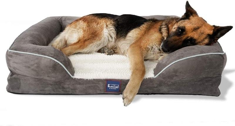 Laifug Large Dog Bed, Orthopedic Memory Foam Dog Couch - Large - large dog bed reviews